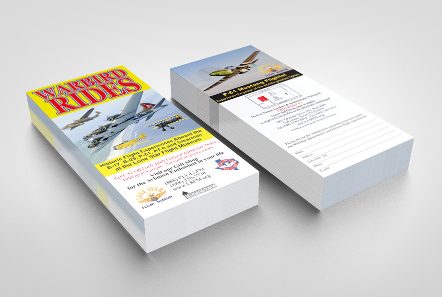 Lone Star Flight Museum Rack Card