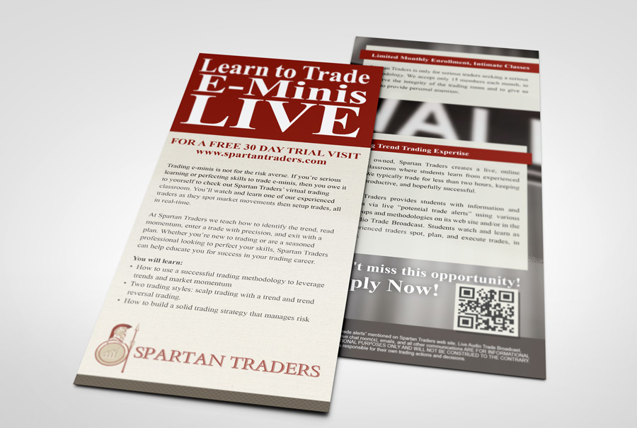 Spartan Traders Rack Card
