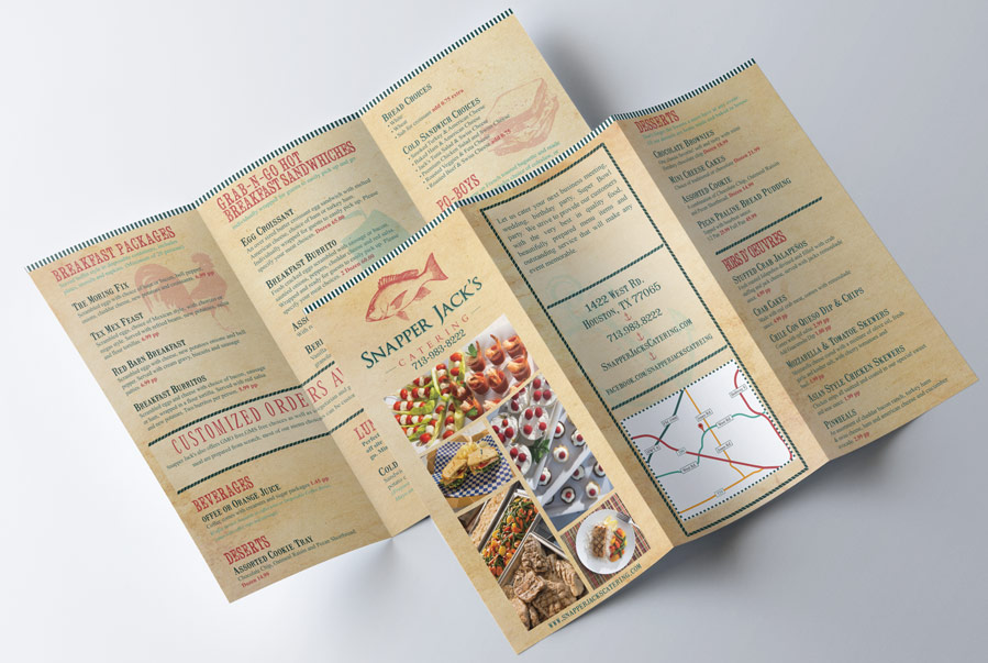 Snapper Jack's Catering Menu