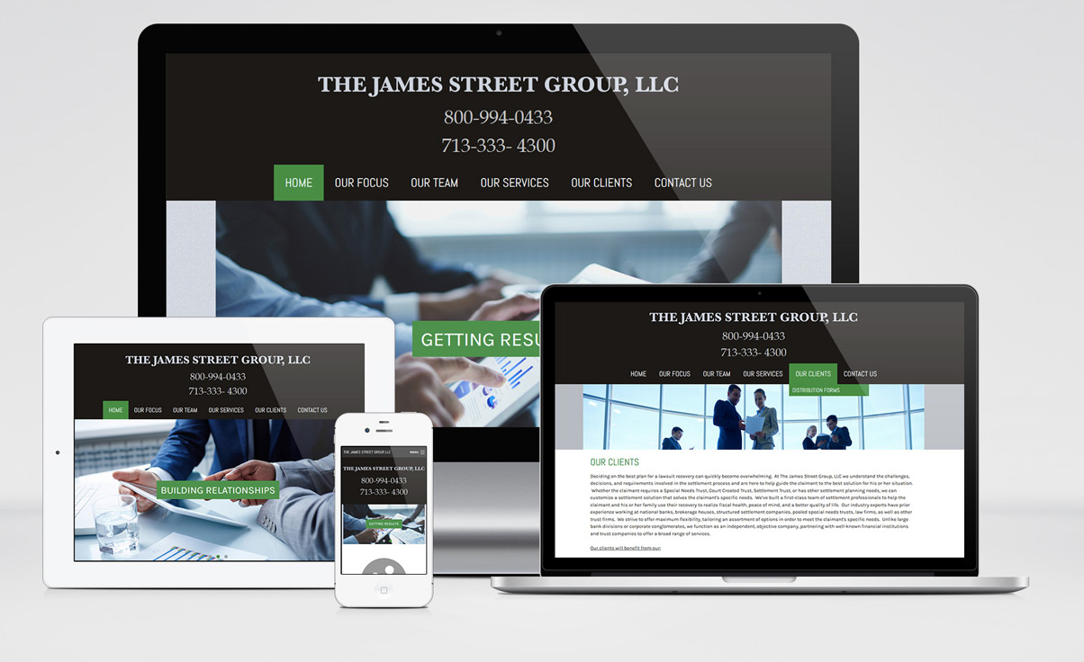 The James Street Group Website