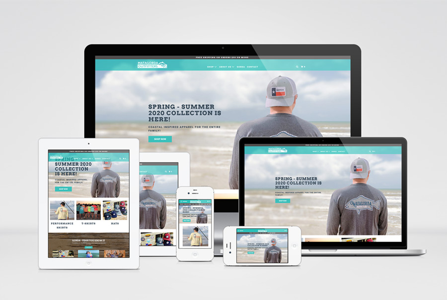Matagorda Outfitters Shopify Website