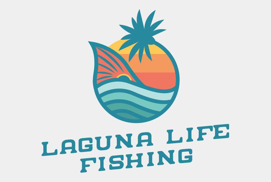 Laguna Life Fishing Logo